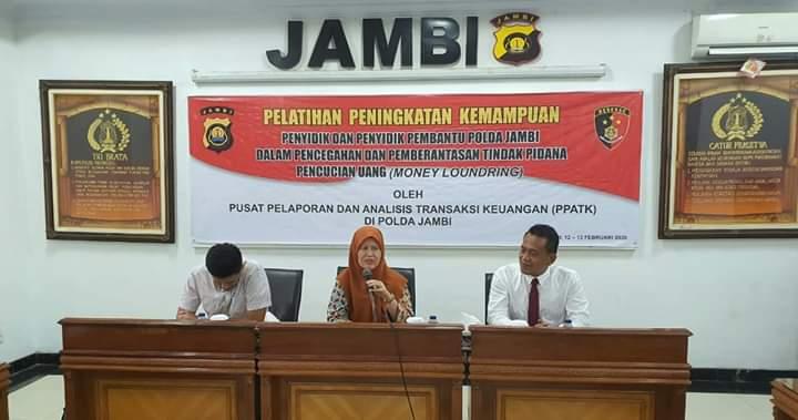 Ditreskrimsus Polda Jambi menggelar latihan penyidik