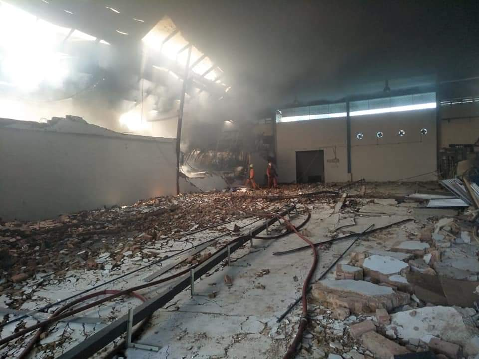 Kebakaran di Kota Batam