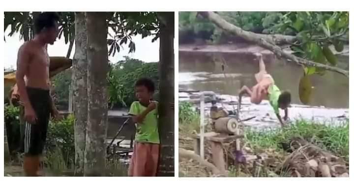 Ayah di Tanjabtim lempar anaknya ke sungai