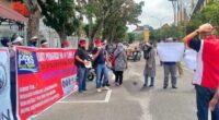 Gubernur Riau didemo wartawan