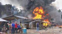Gudang minyak Ilegal di Jaluko terbakar