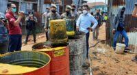 Gudang minyak ilegal di Kota Jambi