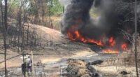 Sumur minyak ilegal di Batanghari meledak